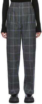 Marni Grey Wool Check Trousers