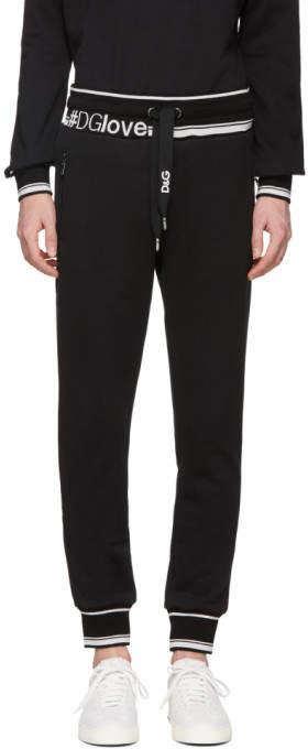 Dolce & Gabbana Black Logo Lounge Pants