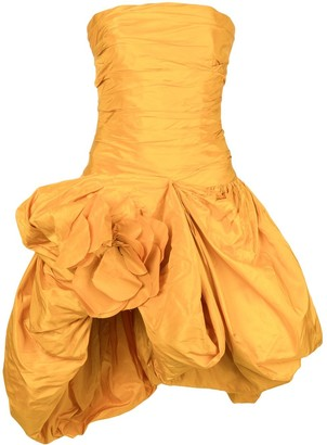 Oscar de la Renta gathered taffeta short dress