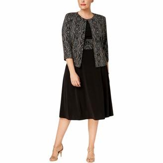 Jessica Howard JessicaHoward Women's Plus Size Two Piece Sparkle Jacket Dress