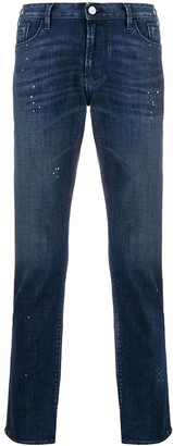 Emporio Armani Dotted Details Straight Jeans