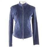 Jitrois Blue Leather Jacket for Women