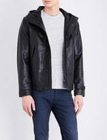 Sandro Neptune hooded leather jacket
