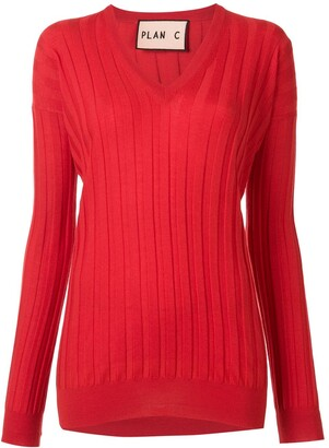Plan C V-neck wool jumper