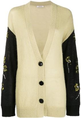 Dorothee Schumacher Sequin-Flowers Oversized Cardigan