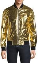 Versace Full-Zip Metallic Jacket