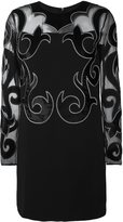 Fausto Puglisi damask detail dress - women - Silk/Acetate/Viscose - 42