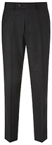 John Lewis Regular Fit Sharkskin Suit Trousers, Charcoal