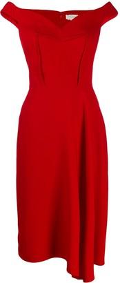 Alexander McQueen Off-Shoulder Crepe Dress