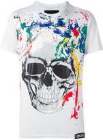 Philipp Plein painted skull print T-shirt