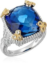 "Judith Ripka Ambrosia"" Small Monaco Created Sapphire Ring, Size 6"