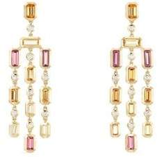 David Yurman Novella Hampton Gemstone& Diamond Chandelier Earrings