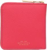 Smythson Panama medium zip wallet