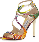 Jimmy Choo Lang Strappy Printed Sandal, Multicolor