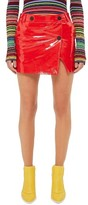 Topshop Women's Heaton Leather Mini Wrap Skirt