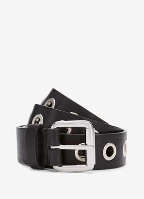 Mint Velvet Black Eyelet Leather Belt