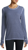 Allen Allen Thumbhole-Cuff Top, Dark Blue