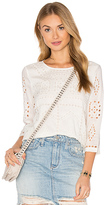 Amuse Society Zander Woven Top in White. - size L (also in )