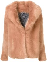 Opening Ceremony short fur jacket - women - Cotton/Nylon/Wool - M
