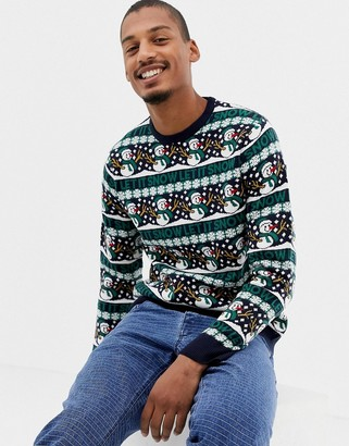 Threadbare Let it Snow Holidays Knitted Sweater