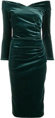 Le Petite Robe Di Chiara Boni Off-Shoulder Fitted Dress