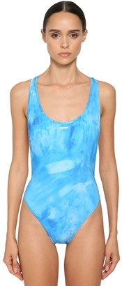 Off-White Off White TIE DYED CROSS LYCRA ONE PIECE SWIMSUIT