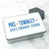 XOXO Personalised Favourite Teacher Tin