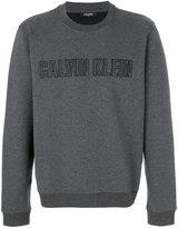 Calvin Klein embroidered logo sweatshirt - men - Cotton/Spandex/Elastane/polyester - M