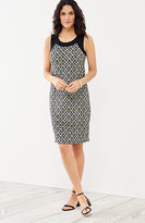 J. Jill Wearever Color Block Print Tank Dress