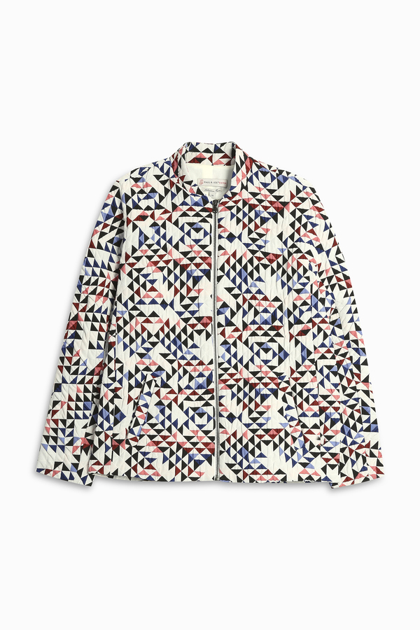 Paul & Joe Sister Geometric Pattern Bomber