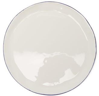 Feldspar - Painted-rim Fine China Side Plate - Blue White