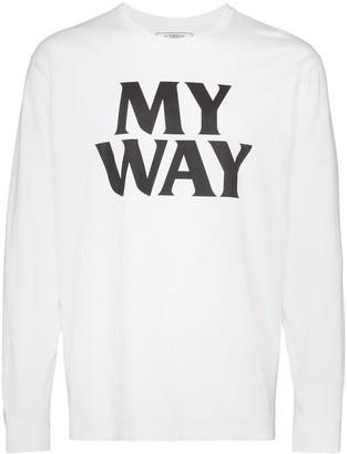 Neighborhood My Way slogan-print T-shirt