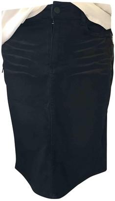 One Step Black Cotton Skirt for Women