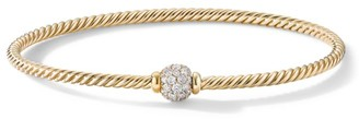 David Yurman Solari Center Station Bracelet In 18K Yellow Gold With Diamonds