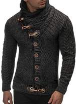 Ur-fashion Men's Thick Warm Coat Cashmere Turtleneck Wool Sweater Cardigan Lapel Tide
