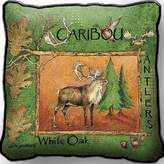 Pure Country Caribou, Reindeer Woven Pillow