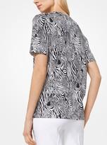 Michael Kors Zebra Cotton T-Shirt