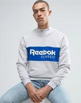 Reebok Archive Stripe Crew Sweatshirt In Gray BK3829
