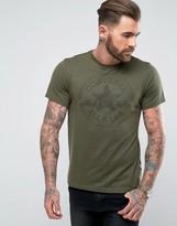 Converse Jacquard T-shirt In Khaki 10003421-a05