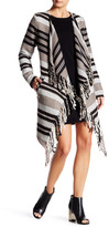 BB Dakota Sparrow Fringed Blanket Coat