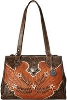 American West Desert Wildflower Large 3 Compartment Shopper Handbags