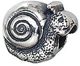 Zable Sterling Silver Snail Bead