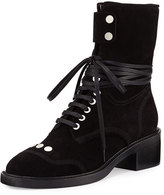 Laurence Dacade Manu Suede Lace-Up Boot, Black