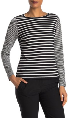 Rebecca Taylor Mixed Stripe Long Sleeve T-Shirt