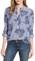 Lucky Brand Women's Floral Chambray Shirt