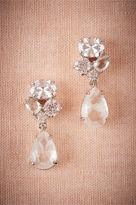BHLDN Crystal Clear Drop Earrings