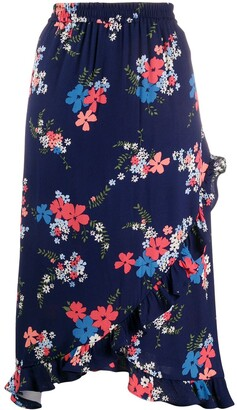 MICHAEL Michael Kors Floral Printed Midi Skirt
