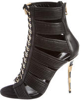 Balmain Caged Ankle Boots w/ Tags