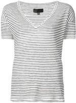 Nili Lotan striped V-neck T-shirt
