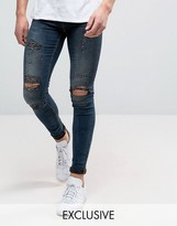 Blend of America Flurry Extreme Skinny Fit Jeans Rip and Repair